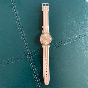 Vintage Swatch Watch White/Tan/Peach